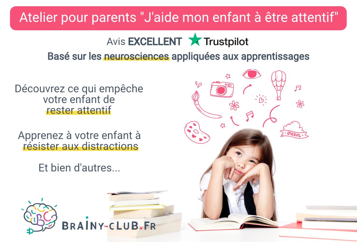 Ateliers parents - j'aide mon enfant à être attentif